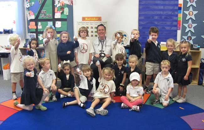 Dr. O'Donoghue Visits Pre Kindergarten